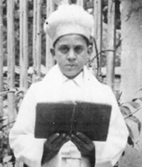 Chaim Raphael at his Bar Mitzvah in Thessaloniki Greece 1937