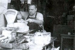 Chaim Raphael in his store