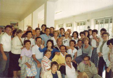 Selvino, 1983 con gli ex Bambini di Selvino