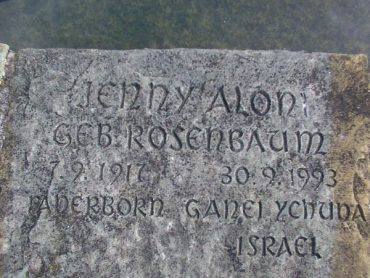 Paderborn - Lapide di Jenny Aloni
