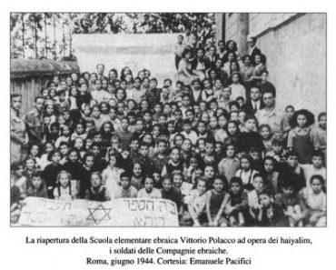 La scuola ebraica riapre a Roma a giugno 1944