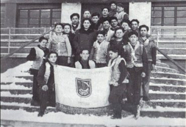 A Sciesopoli con la bandiera di Gordonia