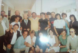 """17-Agosto 1983 i bambini ebrei, ormai adulti, nell'atrio della """"Sciesopoli"""""""
