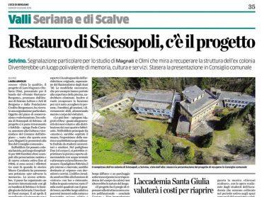Progetto restauro Sciesopoli 2016