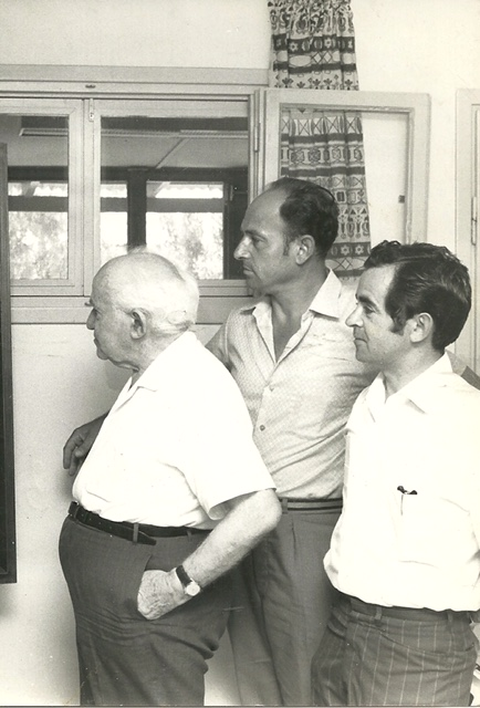 Milton Hostick and Arye Lin with Ben Gurion